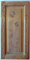 DECORATIVE PANEL WITH FLOWERS by MassoGeppetto