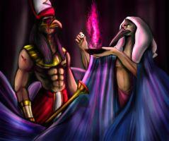 Thot and Horus by ElychazTut97