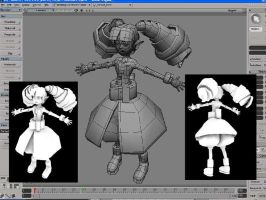 3D Wip of Disgaea Character by msandborn