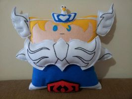 Handmade Knights of the Zodiac Cygnus Hyoga Pillow by RbitencourtUSA