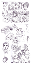 Ballpoint Sketches 2012 by SilentReaper