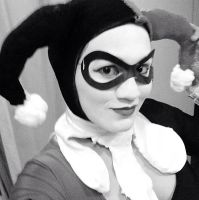 Black and White Harley Quinn by ImJustDezzy