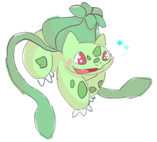Shiny Bulbasaur by Ikpoke