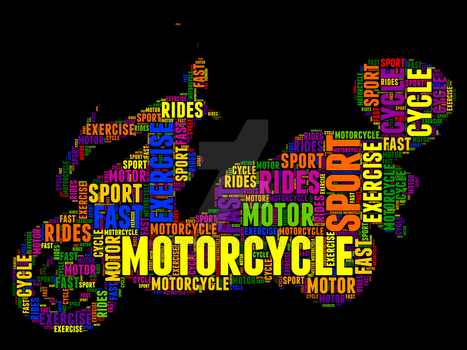 Motorcycle 22 Typography by somsongart