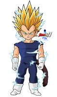Kid Vegeta SSJ2 by Dairon11