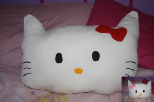 hello kitty pillow by Mab-overthrown