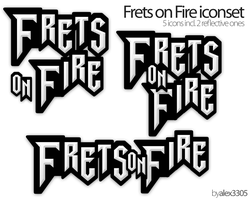 Frets on Fire logo and icons by alex3305