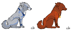 wolf adopts .:Closed:. by fursonaloverXD