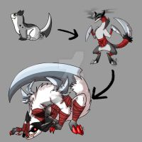 KamaItachi-ALL Stages by Inkblot-Rabbit