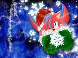 Collab: Christmas Flash WP by Flash--the--Hedgehog