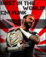 cm punk best in the world. by krislestrange