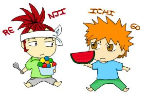 Ichigo and Renji by Winry-Kawaii