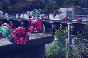 Wild pokemon near the dam by Ninja-Jamal