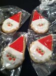 Santa Face Cookies by TheMadCaker