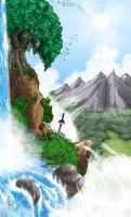 View of Hyrule from Afar by ShadyGambino