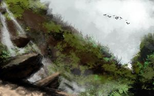 mountain stream speed by cury