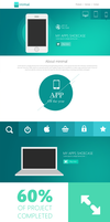 Flat Style Website Template PSD by cssauthor