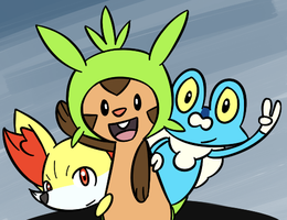 010813_0001:Gen 6 Starters by BuizelKnight