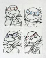 Tmnt Aceo Cards by JellySoupStudios