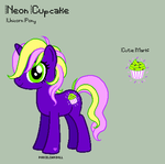 MLP - Neon Cupcake Reference Sheet by porcelian-doll