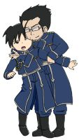 Roy and Hughes Chibis by xxkillyouregoxx