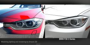 BMW f30 Front lights by Artsoni3D