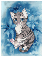 Blue Kitty by Kamirah