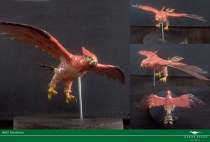 Shiny Talonflame sculpture by Vitor-Silva