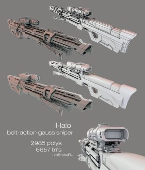Halo Bolt Action Gauss Sniper by ImBrokeRU