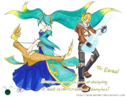 Freesketch 33: Sona Ezreal by everwander