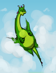 Doug the (not particularly aerodynamic) Dragon by HotCyder
