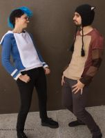Mordecai and Rigby Regular Show Cosplay by becatron