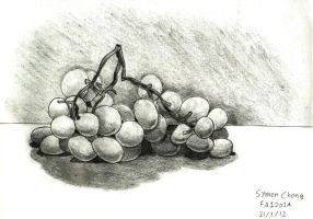 Grapes Sketch by SimonArty