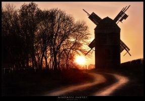 Windmill Sunset by Grreya