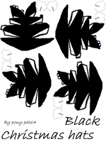 Pony papercraft hats Black by pony-pal64