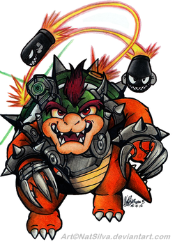 Bowser: Time for battle! by NatSilva