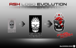 ash logo evolution by MARSHOOD