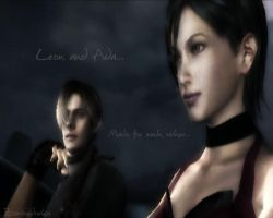 Leon and Ada wallpaper by zombiedorka