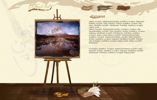 Artgallery website II by Jadknight
