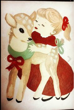 Little Girl and Her Reindeer by TracyTee