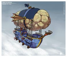 Fond du gouffre #2 - Air ship by Gromy