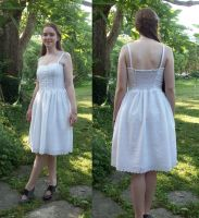 White Eyelet Graduation Dress by taylor-of-the-phunk