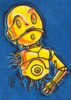 SketchCard: StarWars C3PO by Axigan