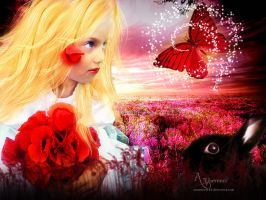 The butterfly and my Bunny (3) by annemaria48