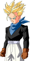 Trunks Ssj DBGT by Krizeii
