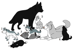 Wolf Family Adopts :OPEN: by russkiadopts