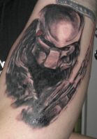 predator tattoo in tattoos 1 comment more like this