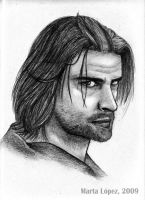 JOSH HOLLOWAY as SAWYER by martalopezfdez