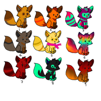 Chibi Fox Adopts all only 2 - 3 points !!! :D OPEN by xXgetoutaliveXx