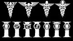 Warhammer 40k Medical Symbols - White Version by Light-Tricks